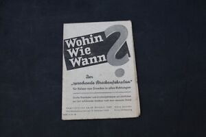 Age Print Timetable Dresden Old Vintage Collector Advertising