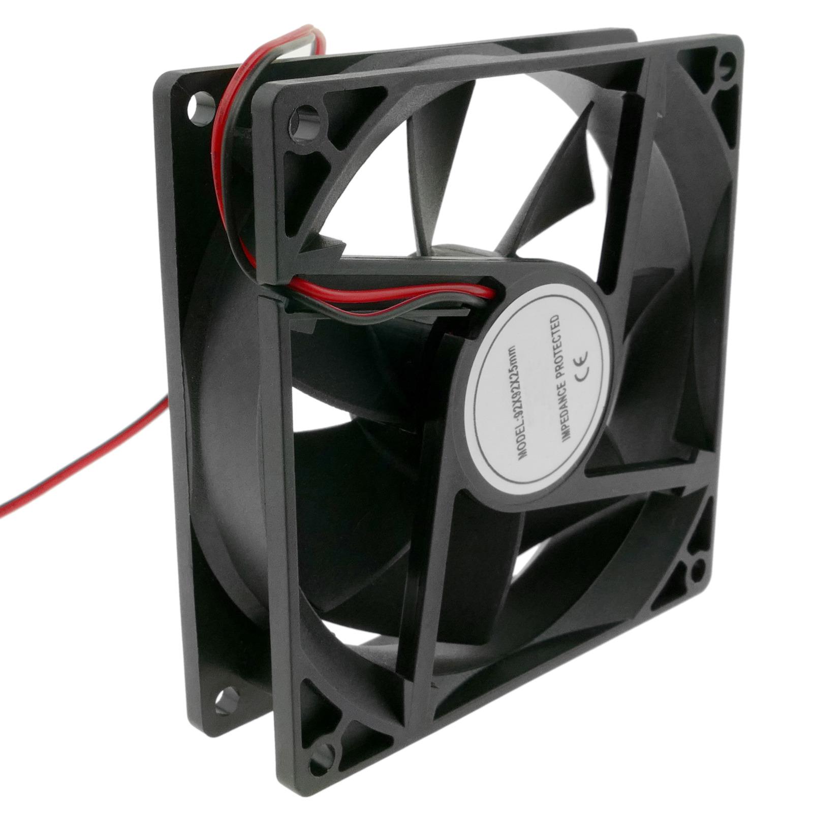 Ventilador de chasis 92x92x25 mm de 12 VDC para caja de ordenador