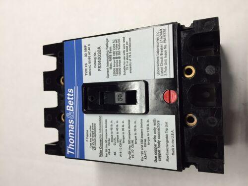 FS340030A Thomas /& Betts Circuit Breaker 30A