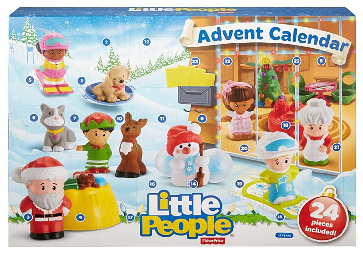 New  Unopened Fisher-Price Fisher-Price Fisher-Price Little People Advent Calendar Free Shipping  ff1839