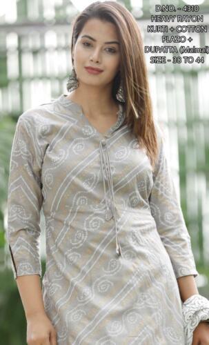 Indian Women reyon Kurti and palazzo xlxxl size casual dress festive partywear