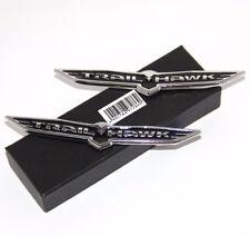 2 PCS TRAILHAWK TRAIL HAWK BLACK BADGE For JEEP CHEROKEE NAMEPLATE EMBLEM 3D