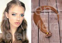 100 Strähnen / 1 Gramm Remy Echthaar Haarverlängerung 45cm Keratin Bonding Utip