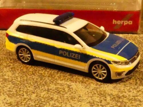 1//87 Herpa VW Passat gte Variant policía Hannover 932691