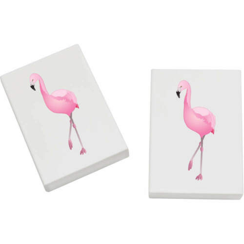 Rubbers ER00020141 2 x 45mm /'Flamingo/' Erasers