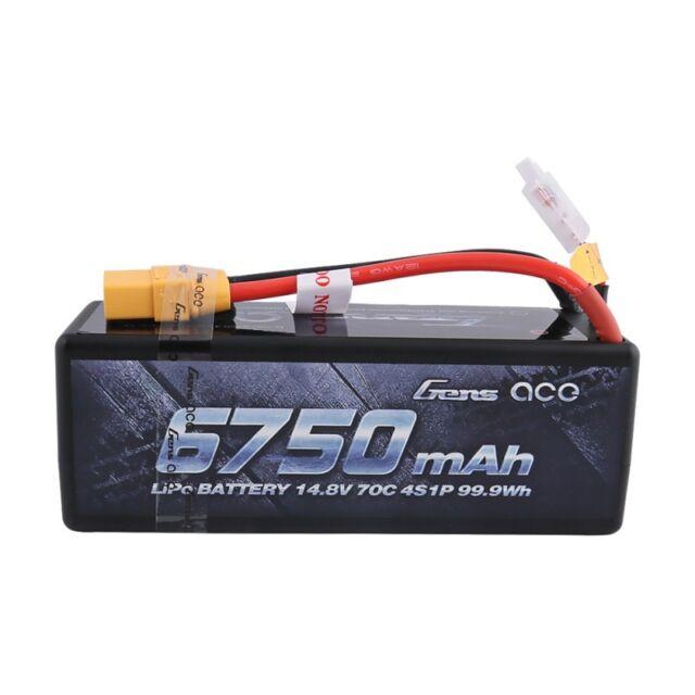 Gens Ace Hardcase Akku 6750mAh 14.8V 70C 4S LiPo Battery Für 1/8 RC Auto Model
