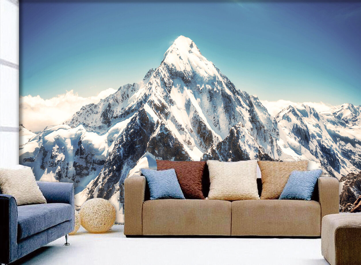 3D Snow Mountains 1009 WallPaper Murals Wall Print Decal Wall Deco AJ WALLPAPER
