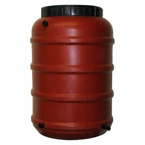 50 Gallon Terra Cotta Rain Barrel Brown