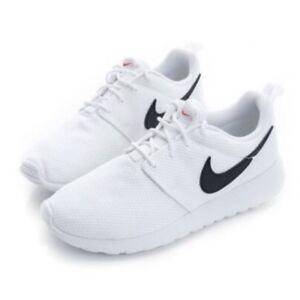 ca3693088b66 Nike Roshe One GS Youth Kids Juniors Women Running Shoes White Black ...