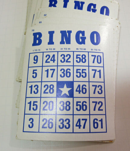 Vintage 1981 Bingo Card Lot of 25 Heavy Cardstock Crafts Mixed Media Altered Art