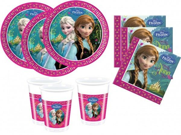 36 Teile Disney Frozen Eiskönigin Party Deko Basis Set - für 8 Kinder