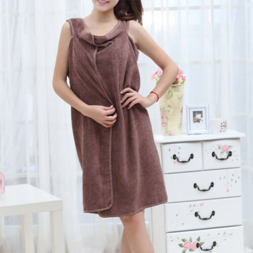 Women Quick Dry Bath Towel Bathrobes Cloth Robe Beauty Spa Body Wrap Bath Dress