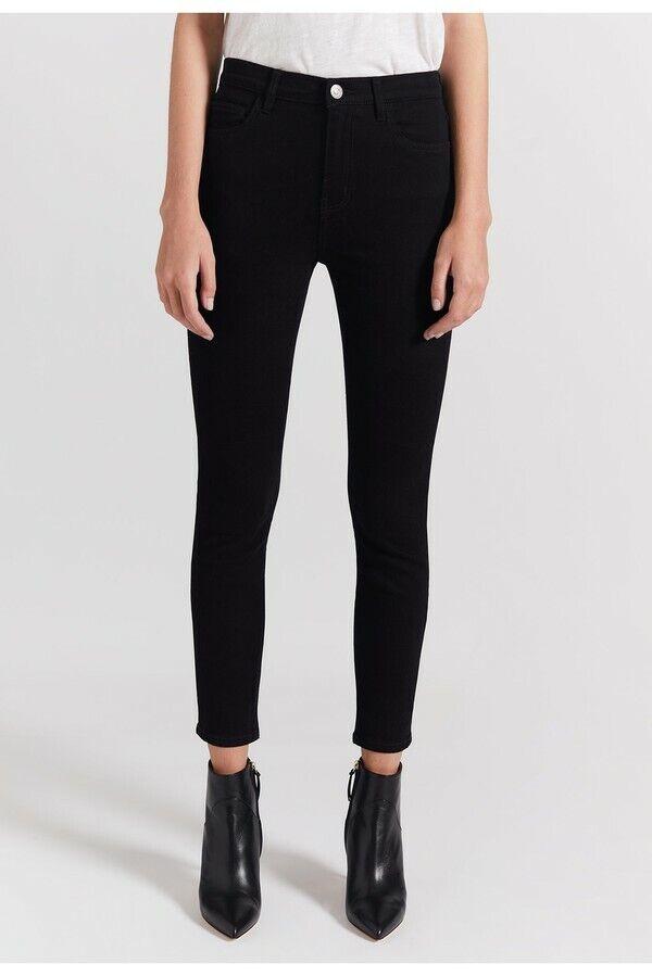 Current Elliott para mujer de la alta cintura  Stiletto Skinny Jeans limpio Negro Talla 29  salida para la venta
