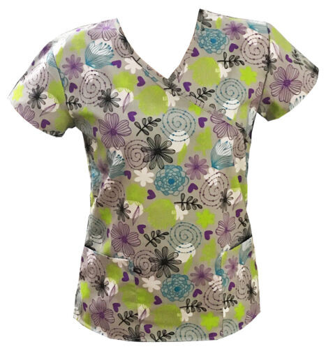 Women/'s Fashion Medical Nursing Scrub Tops Part3
