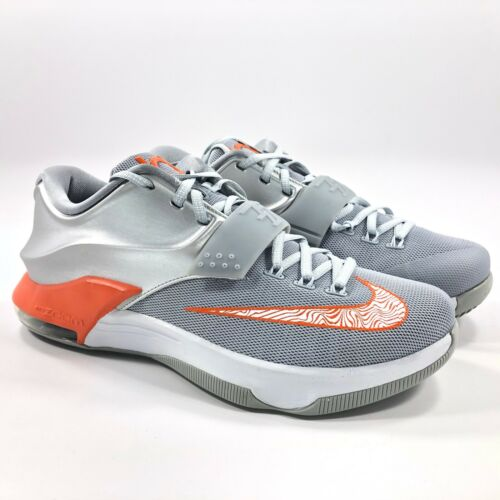 Nike Zoom KD VII 7 UT Texas Longhorns Silver Orange Grey 653996-080 Men/'s 8-10
