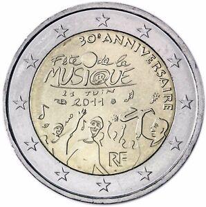 Frankreich 2 Euro Münze Fest Der Musik 2011 Gedenkmünze Fête De La