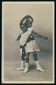 ff Black americana Cake Walk dance circus child original 1900s photo postcard