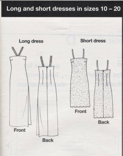 £1 STRAPPY DRESS Sundress Party Beginners Prima Sewing Pattern 10 12 14 16 18 20