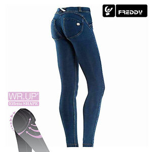 Freddy-WR-UP-WRUP1LJ1E-J0-Y-Jeans-Donna-Skinny-Fit-COL-DENIM-SCURO-NEW