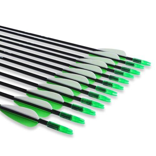 USA 12PCS 30/'/' Fiberglass Arrow Archery Steel Point SP1200 F Recuve/&Compound Bow