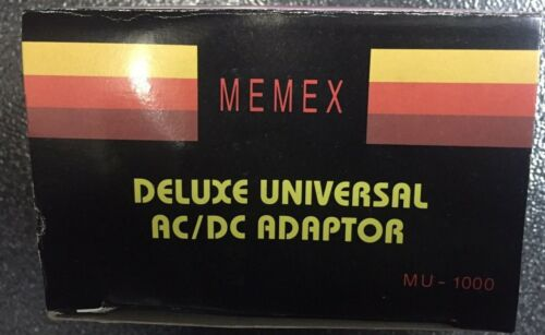 MEMEX MU-1000 MA Universal AC//DC Adapter 1.5-3-4.5-6-6.5 9-12V Buy 2 Get 1 FREE!
