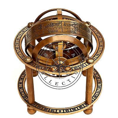 Medieval Epic Armillary Sphere Astrologie Globus skalierte Nachbildung antiker wissenschaftlicher Instrument//Briefbeschwerer