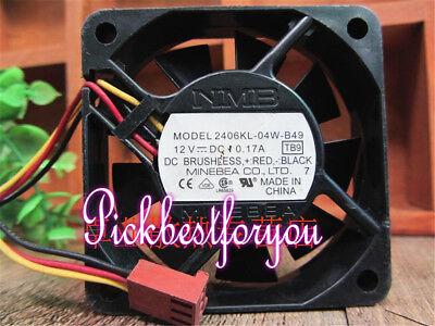 NMB 2406KL-04W-B49 fan 60*60*15mm 12V 0.17A 3pin #M2472 QL