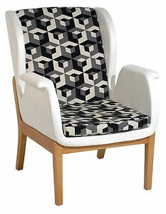 Fabulous Details About New Modern Contemporary Fabric Upholstery Relax Accent Chair In Black White Creativecarmelina Interior Chair Design Creativecarmelinacom