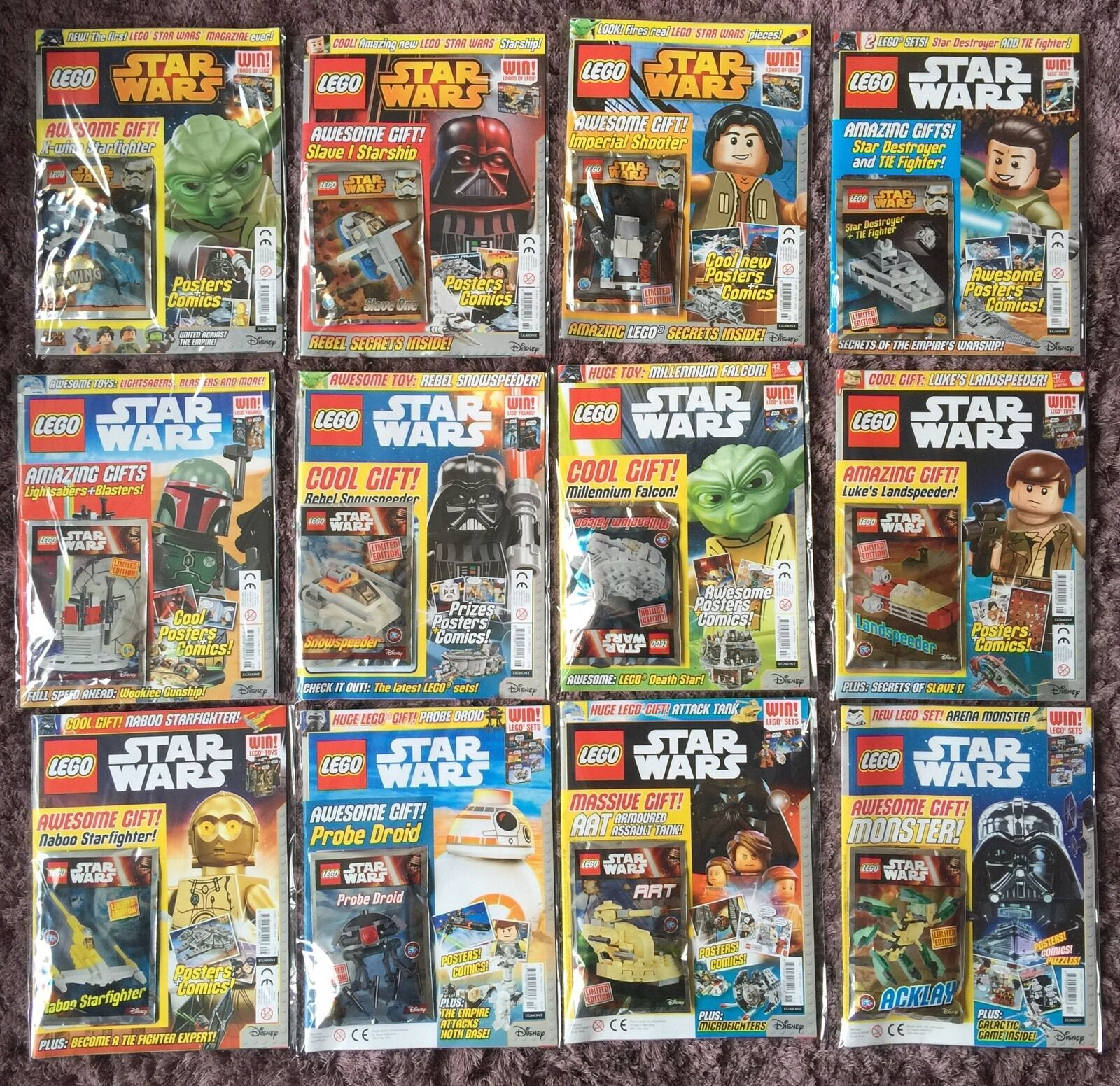 Set Complet UK LEGO STAR WARS Magazine Questions  1-45 et Mini-Kits non lu & EN SAC