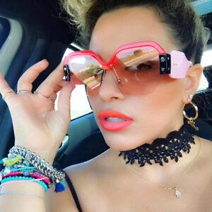 a06466dbb4e2 Image is loading 2018-Women-Large-ladies-oversized-sunglasses-half-frame-