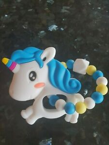 Animal-Teether-Chew-Silicone-Teether-Unicorn-BPA-Free-Baby-Shower-Gift-UK-Seller