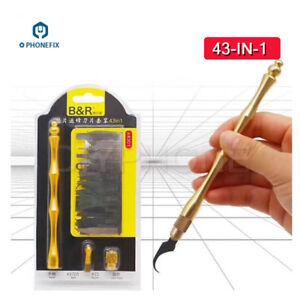 43Pc-Set-BGA-Repair-Knife-CPU-NAND-IC-Remover-Glue-Disassemble-Rework-Blade-Gold