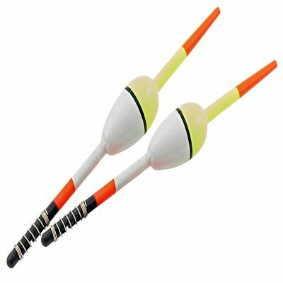 """2 PACK  SOUTH BEND WOODEN BALSA SPRING FISHING FLOATS SIZE 1/""""  BOBBERS"""