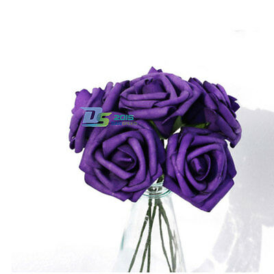 Colourfast Wedding Foam Artificial Roses Flower Bouquet Party Home Decoration