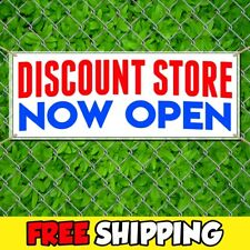 Discount Store Now Open Advertising Vinyl Banner Flag Sign Many Sizes Withgrommets