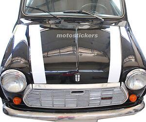 Mini Cooper Classic Bonnet Stripes Bands Adhesive Bonnet Austin