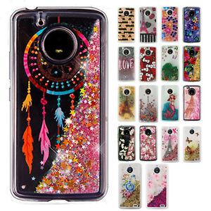 For-Motorola-Moto-E4-Liquid-Glitter-Quicksand-Hard-Case-Phone-Cover-Accessory
