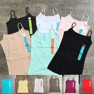 Primark-Ladies-Womens-Girls-Stretch-Cami-Vest-Top-Adjustable-Straps-Size-4-20