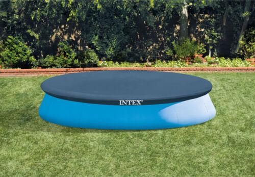 28022 Easyset Swimming Pool Cover Round 12ft 3.66m 7 Gauge Blue Vinyl By Intex