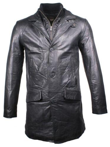 GrM herenkorte Büffelnappa voor Leren Veetal zwart aus jas in leer jas het BdroeCxW