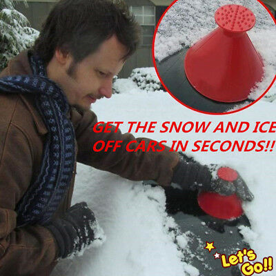 Magic Car Windshield Ice Scraper Tool  Shaped Round Funnel Remover Snow NEU
