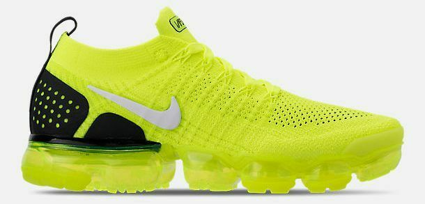 NIKE AIR VAPORMAX FLYKNIT 2 Homme Running Volt-Blanc-Noir Authentique Neuf Taille