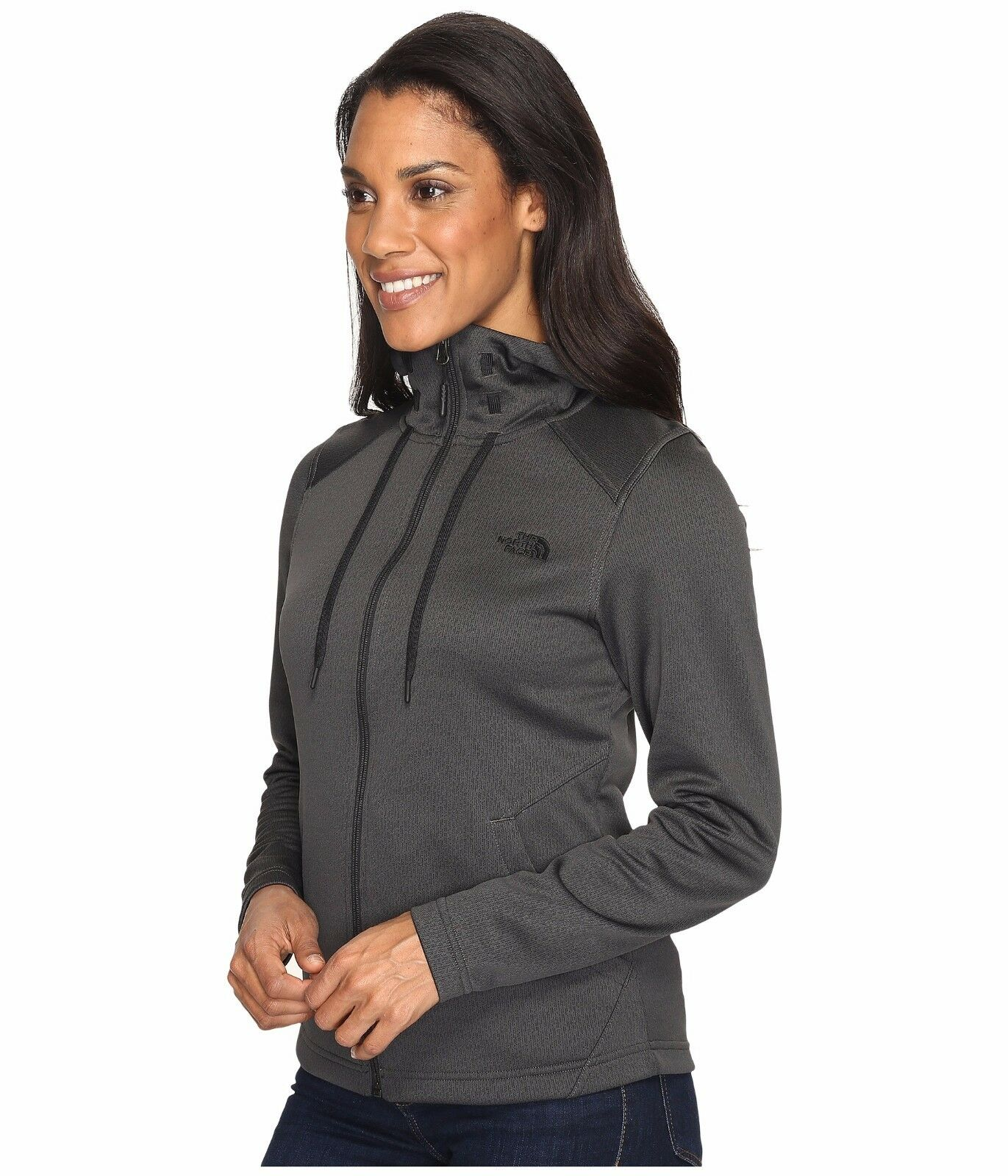 The North Face Suprema Full Zip Hoodie Womens Grey Size M