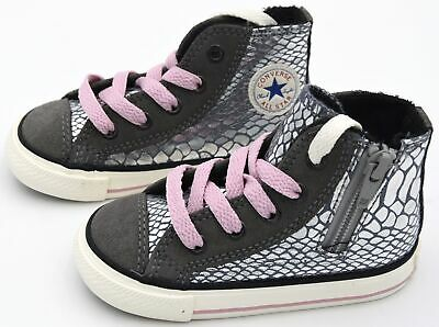 CONVERSE ALL STAR BABY GIRL SNEAKER SHOES SPORTS CASUAL CT SIDE ZIP HI 746381C   eBay