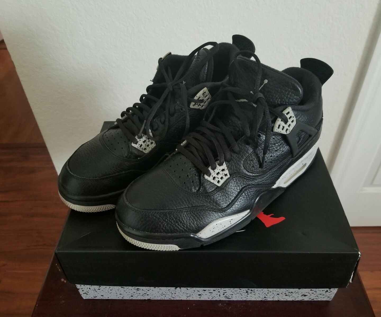 Air Jordan 4 Retro IV Black/Tech Grey Size 10.5