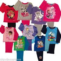Kids Girls Boys Disney Marvel Thomas Me to You Frozen Long Pyjamas UK SELLER