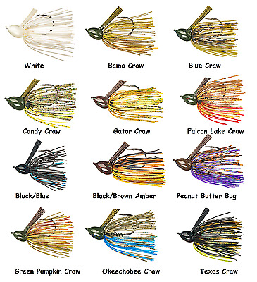 Choice of Colors and Sizes Strike King Hack Attack Fluorocarbon Flipping Jig