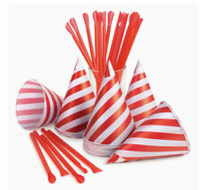 6 Packs Nostalgia 120 Snow Cone Cups And 120 Spoon Straws