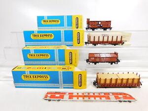 Ca931-1-4x-TRIX-h0-wagons-DB-3624-3626-3637-3638-sans-essieux-neuf-dans-sa-boite