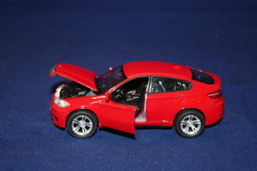 Modello di auto//BMW x6 M//ROSSO//Top mark//DIE CAST Collection//OVP